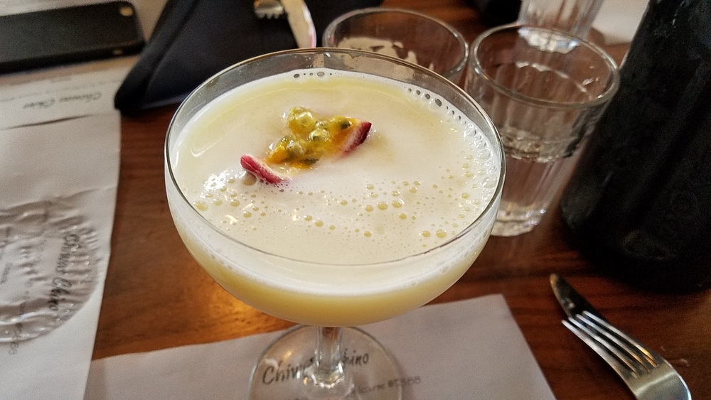 Passion Fruit Bartida (tequila, passionfruit, condensed milk)