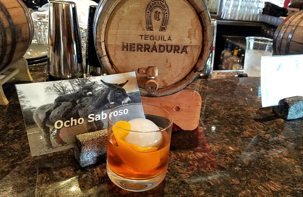 Ocho Sabroso with tequila, aperol, AZ Bitters Lab bitters