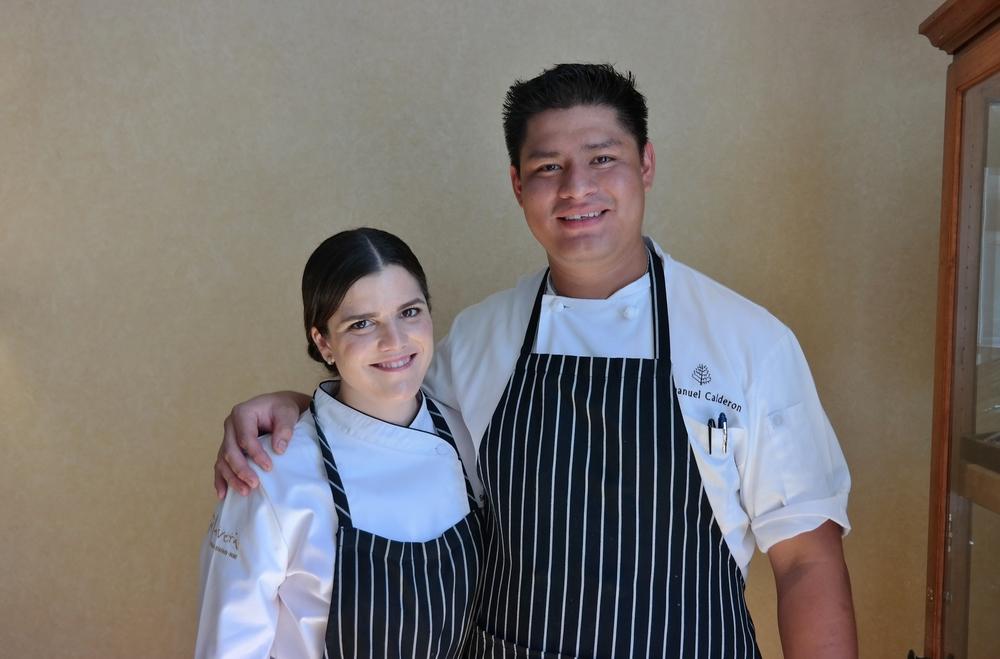 Chefs Samantha Sanz and Manny Calderon