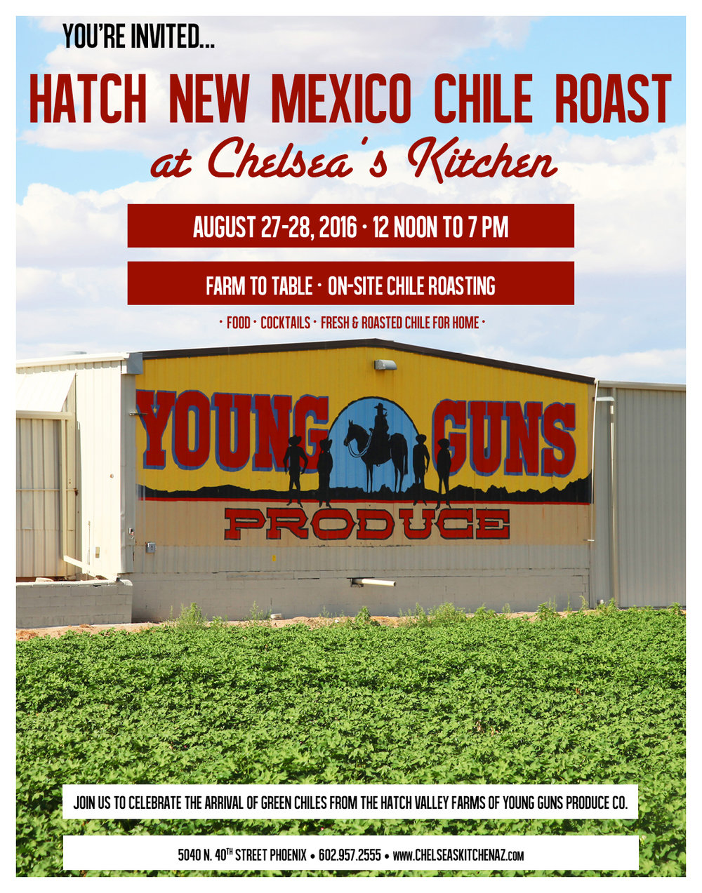 Chelsea\'s Kitchen Hatch Chile Roast — Write On Rubee
