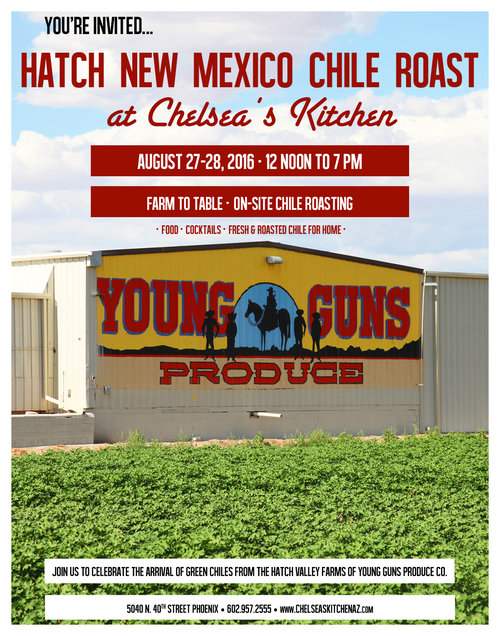 Chelsea\'s Kitchen Hatch Chile Roast — Write On Rubee