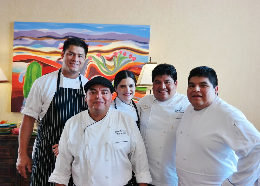 L to R: Chefs Manny, Juan, Sam, Mel, and Honorio