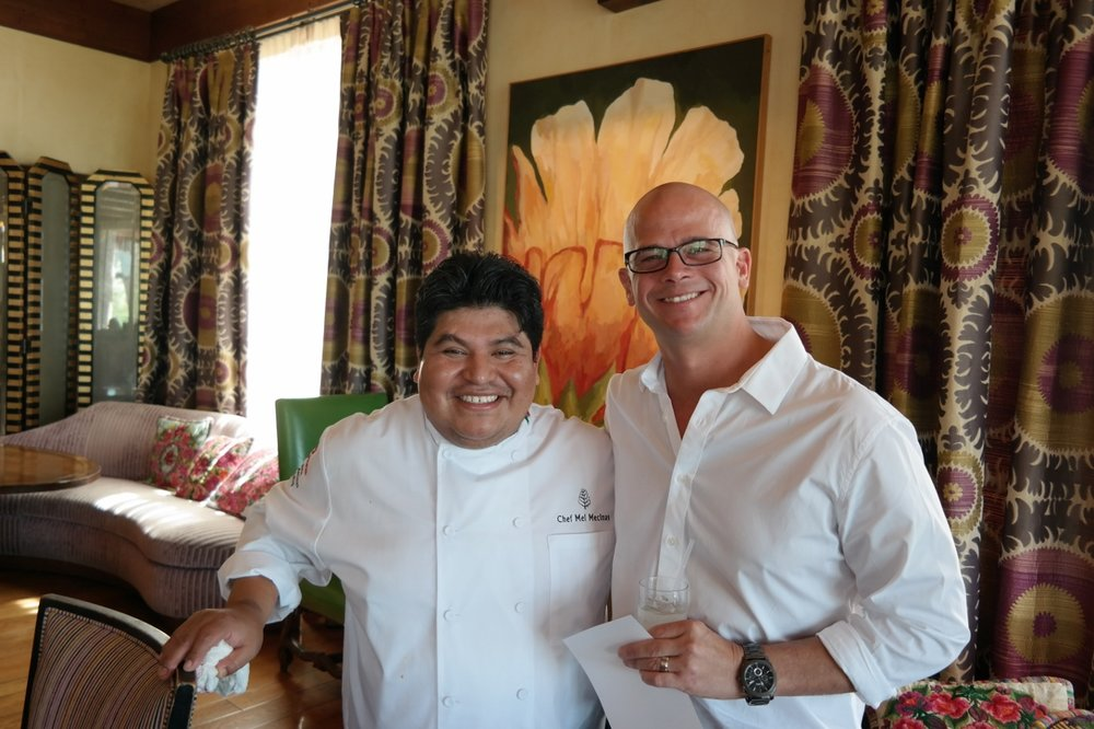Executive Chef Mel Mecinas of the Four Seasons and Executive Chef Cory Oppold of Atlas Bistro