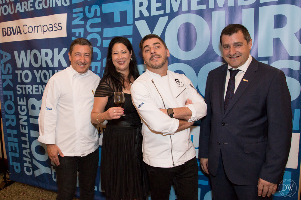 The Roca brothers of Celler de Can Roca (2013 & 2015 Best Restaurant in the World) - Executive Chef Joan, Pastry Chef Jordi, and Sommelier Josep - at the Phoenix dinner on the El Celler de Can Roca & BBVA Tour.  (photo by Debby Wolvos)