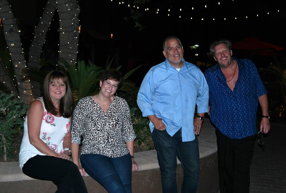 Gillian and Stuart with a mutual friend, Chef David Duarte, and his wife Sherri