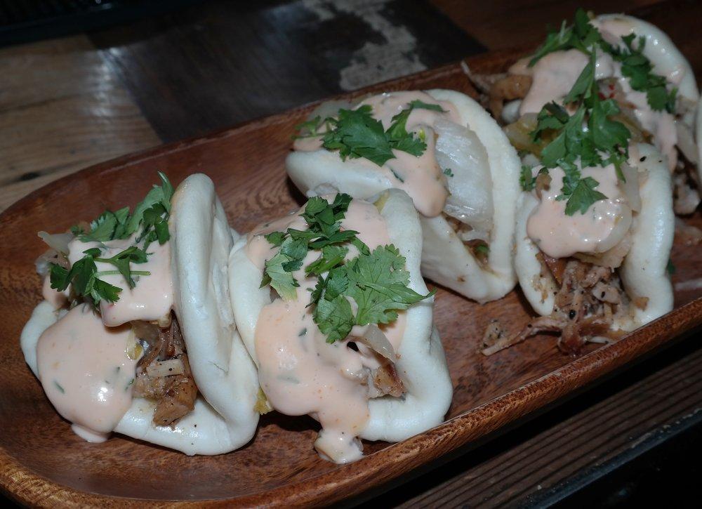 Kimchi Reuben steamed buns