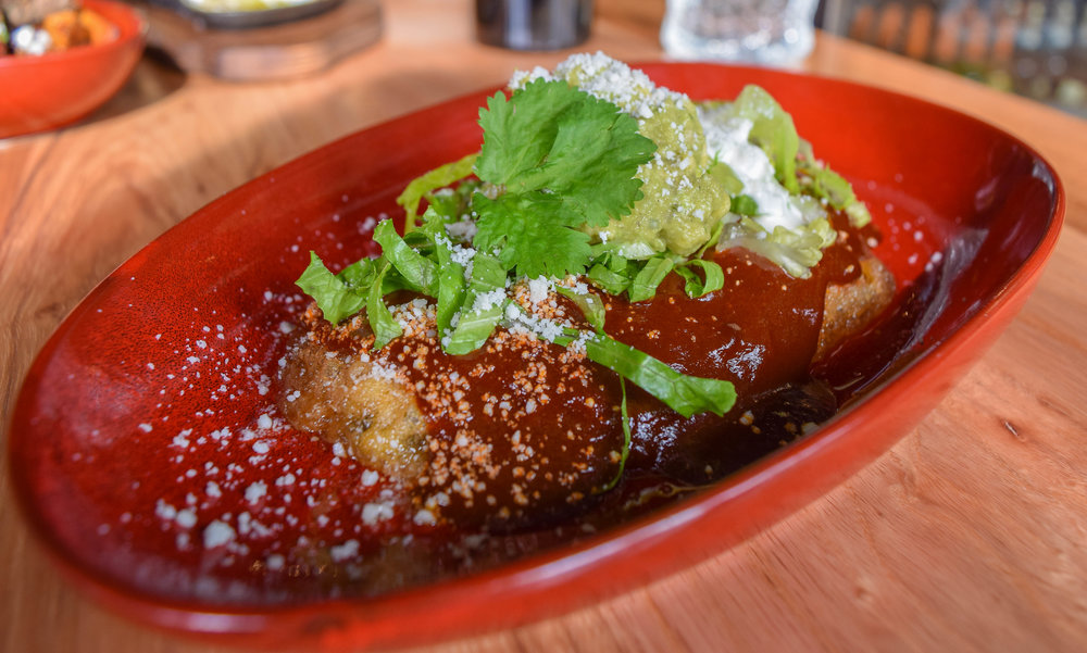 Filipino chile relleno with longanisa sausage
