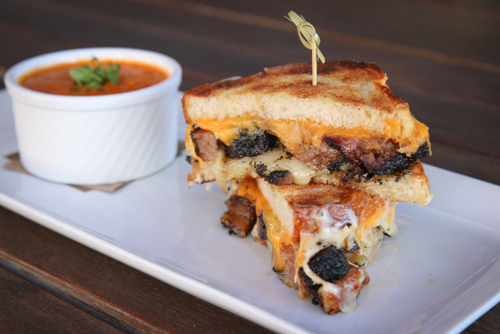 Brisket grilled cheese  (all photos by Joanie Simon)
