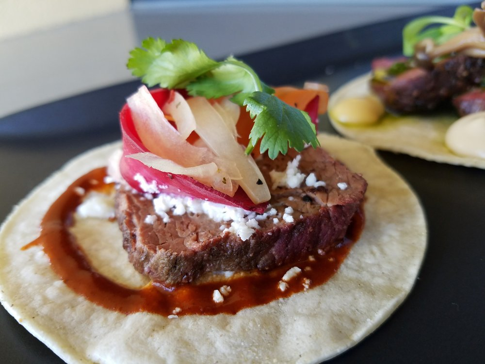 36-hour short rib taco with radish and escabeche