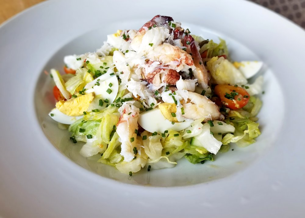 Dungeness crab salad with lemon vinaigrette