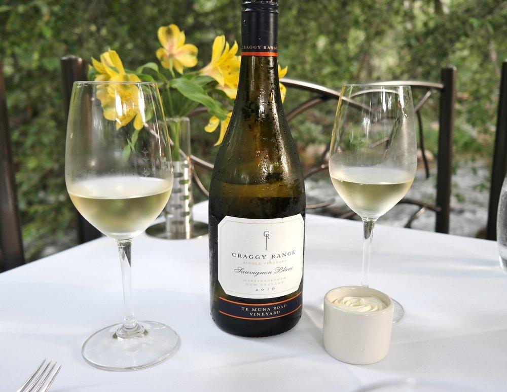 L'auberge de sedona Craggy Range sauvignon blanc