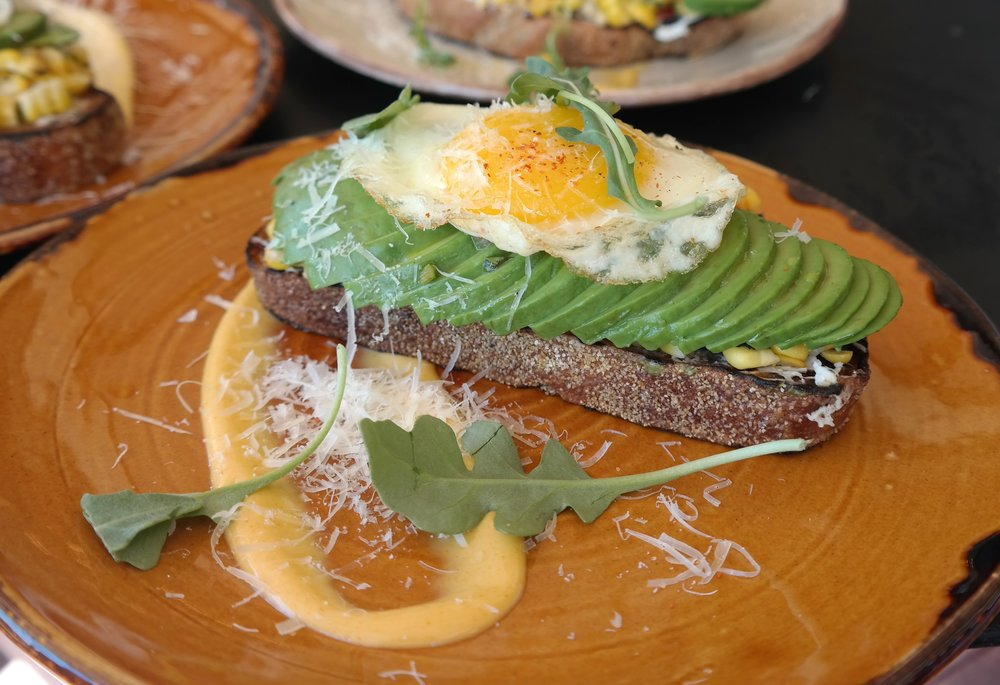 Avocado toast Toro brunch Scottsdale