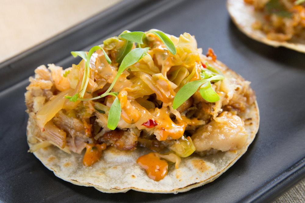 Pork belly taco CRUjiente tacos