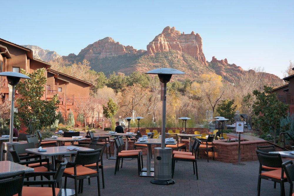 Salt Rock Kitchen patio view Sedona