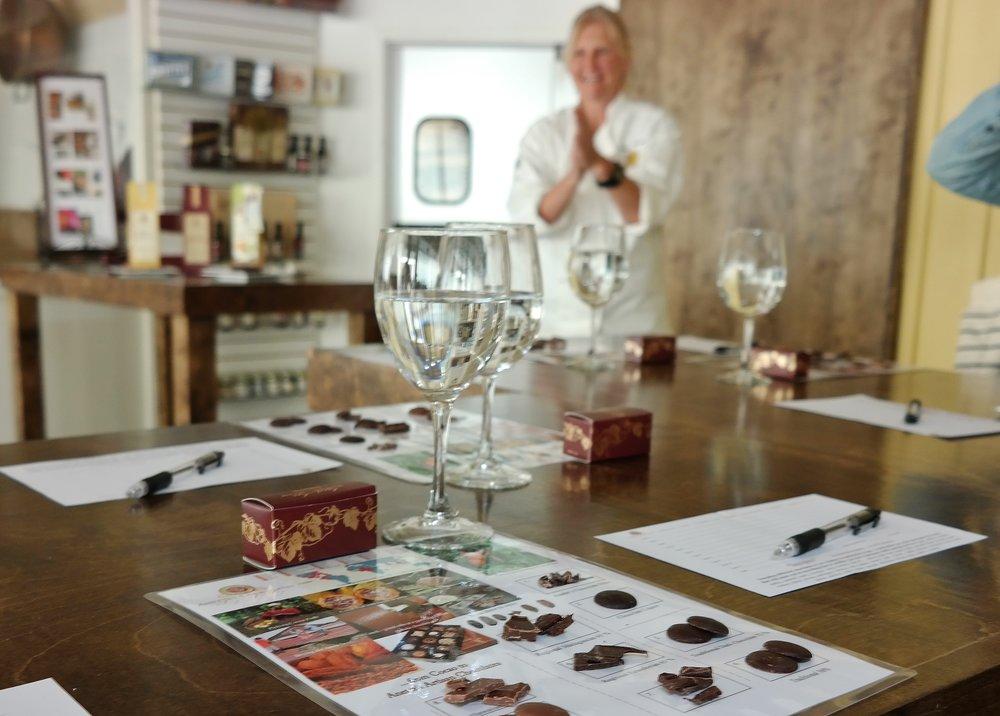 Annette's Chocolates Class Napa