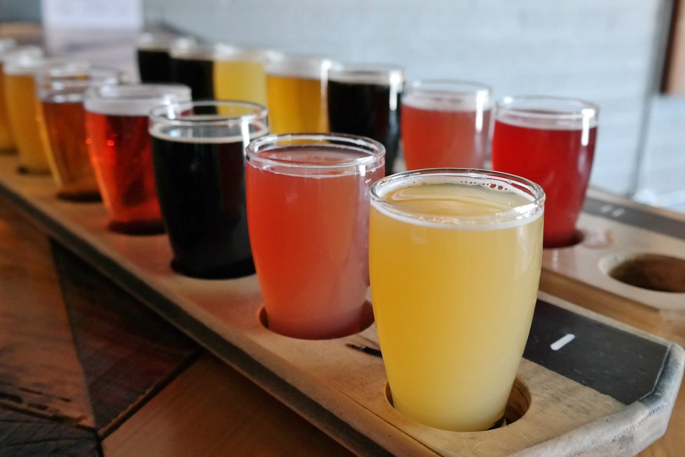 Dark Sky Brewing flights