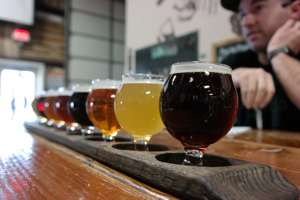 Historic Brewing flight