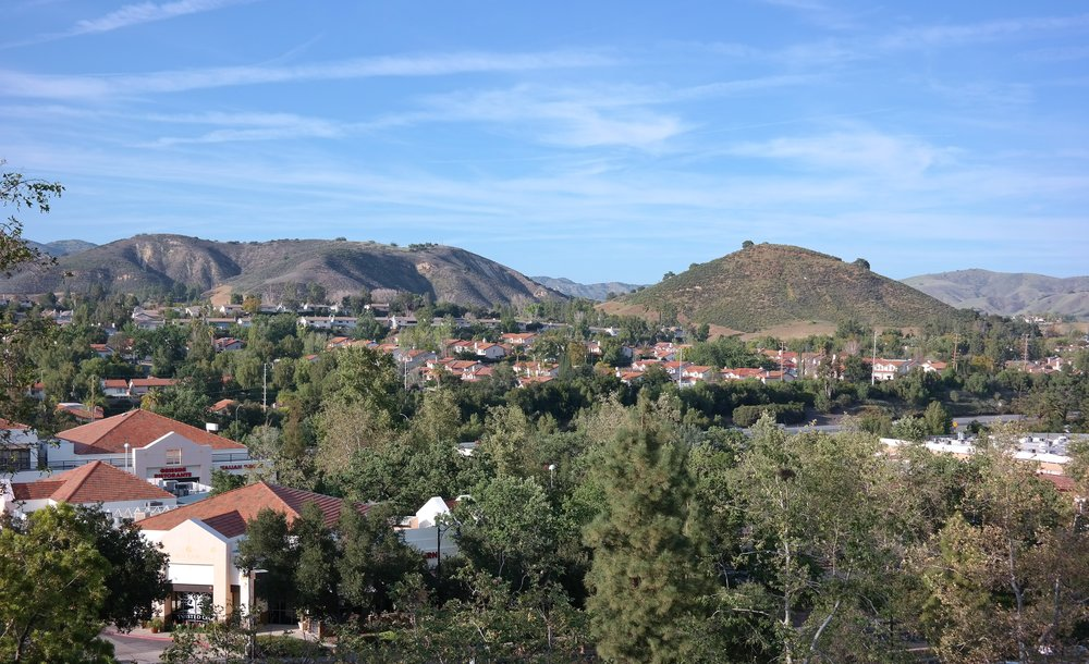 The view from our room at the  Sheraton Agoura Hills