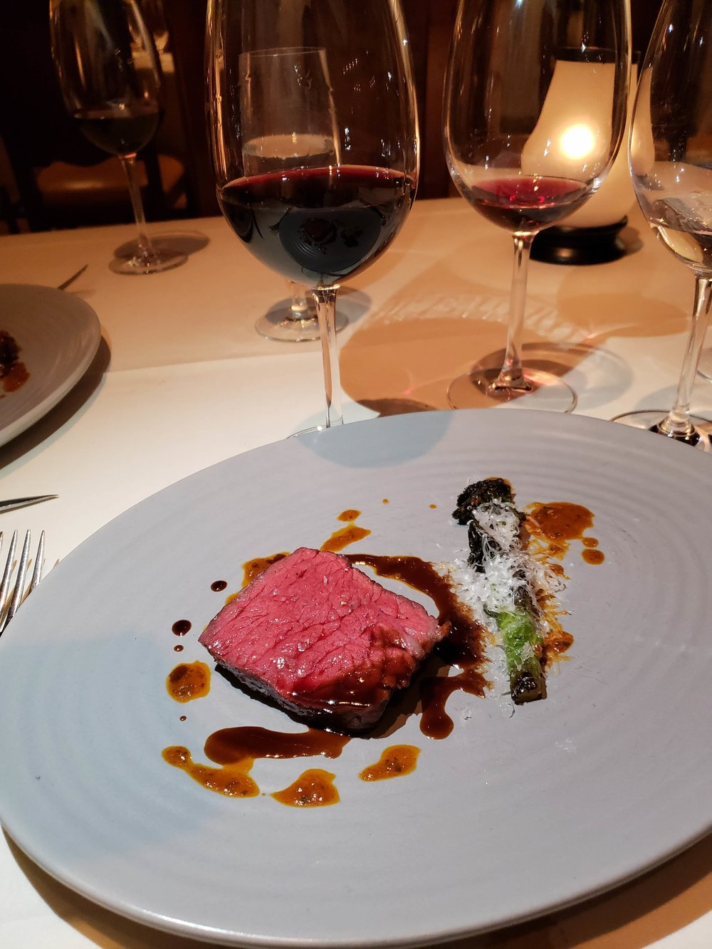 Wagyu paired with Justin Isosceles