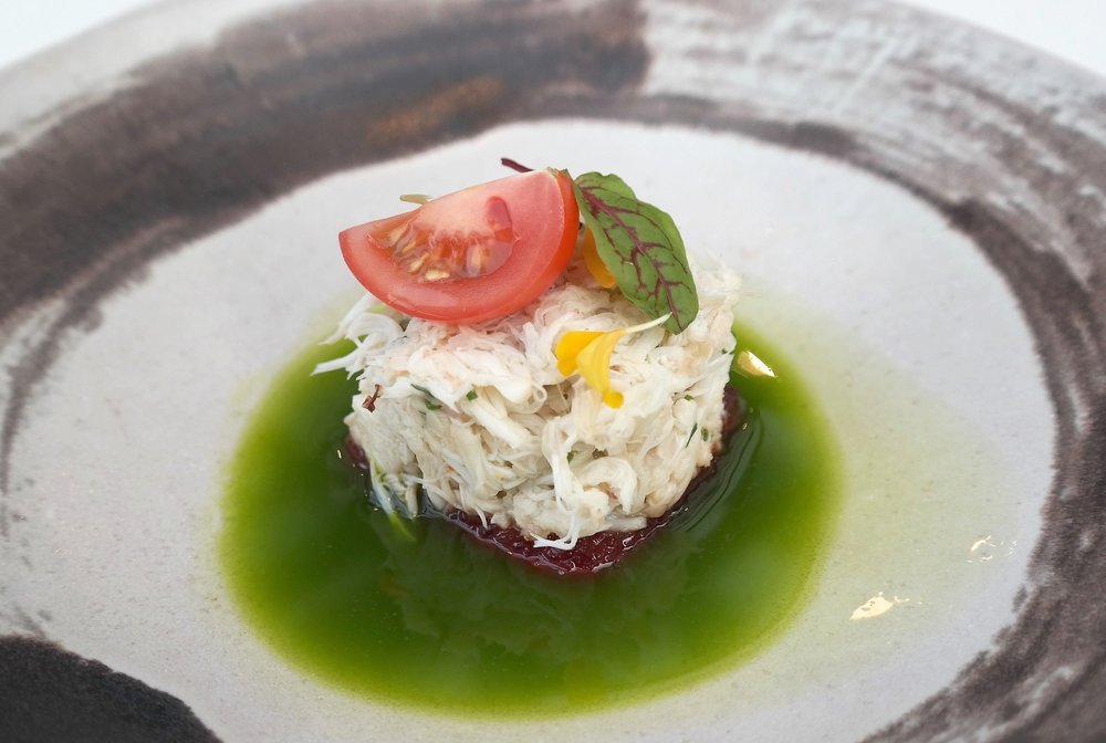 Crab salad Artizen at The Camby