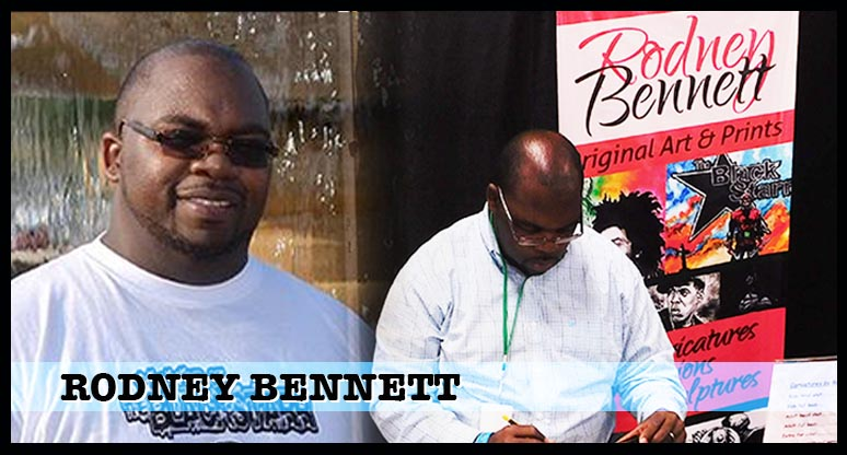 Rodney Bennett -- artist on Legend of the  Black Starr