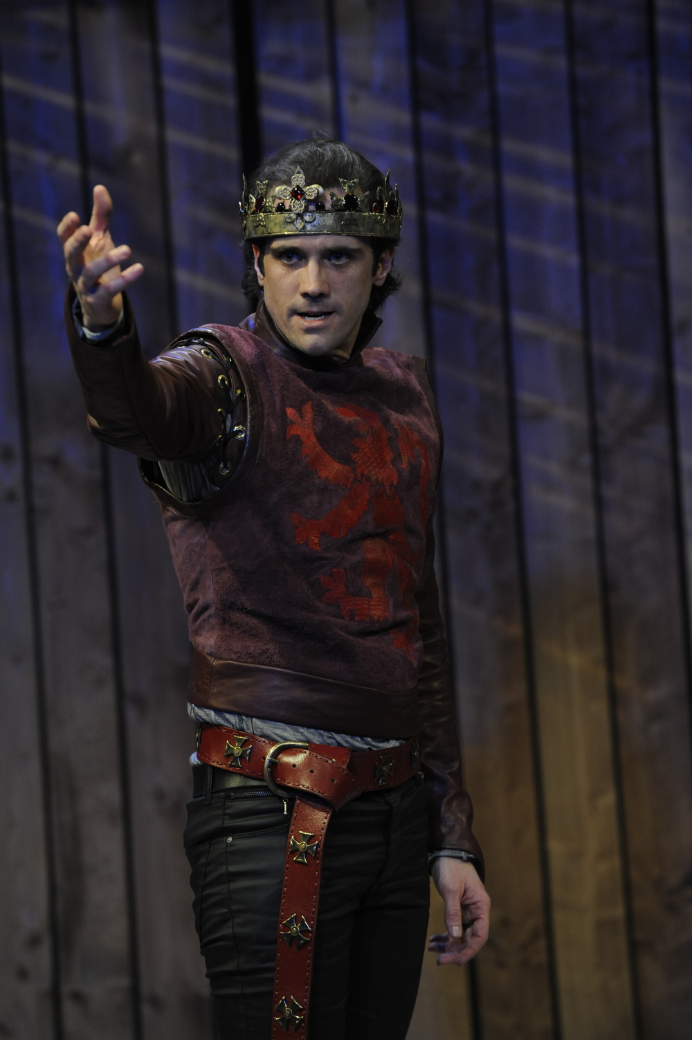 John P. Keller in 'Henry V' at Orlando Shakespeare Theatre. Photo: Tony Firriolo