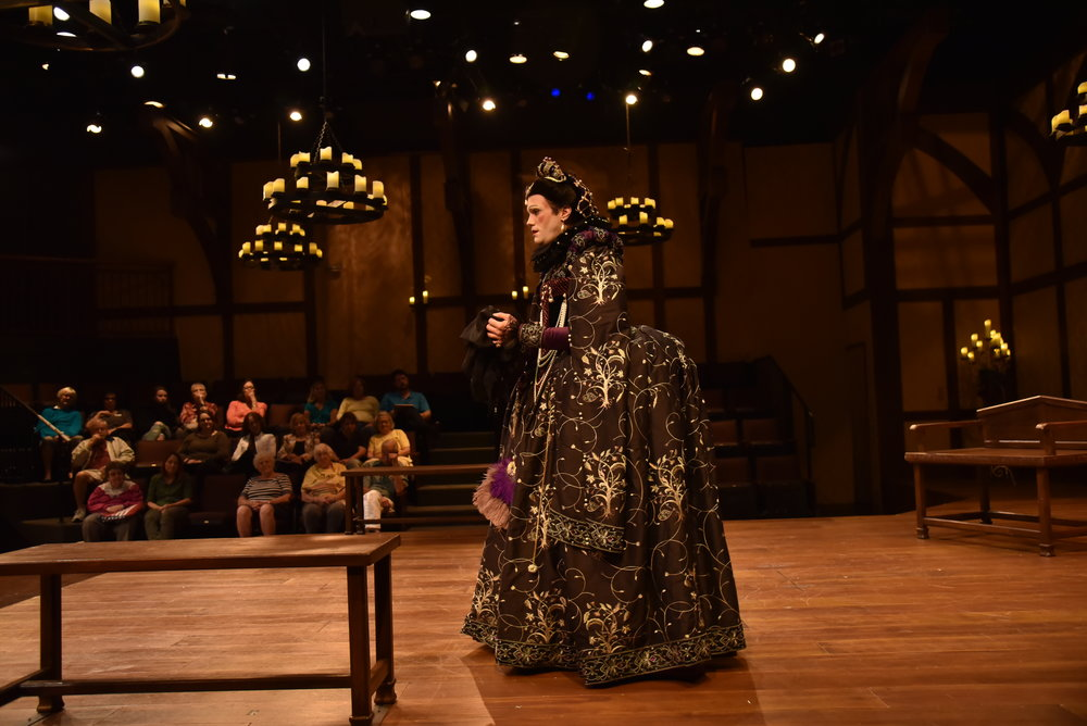 Olivia in Twelfth Night at Orlando Shakespeare Theater