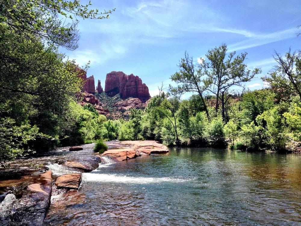 Oak Creek and Cathedral Rock at Red Rock Crossing, Sedona, Arizona. ©Nila Nealy