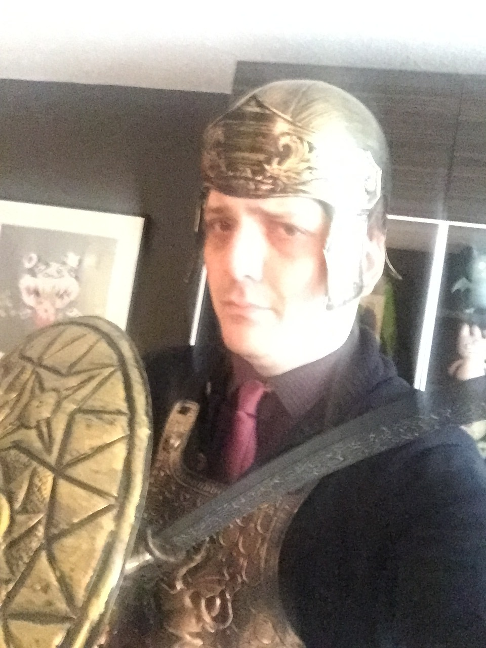 The helmet almost fit. Almost.