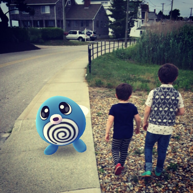 And we played so much Pokèmon Go that by the end they were totally blasè about walking past a Poliwag.