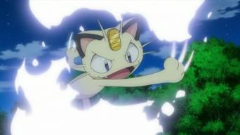 Meowth doing fury swipes