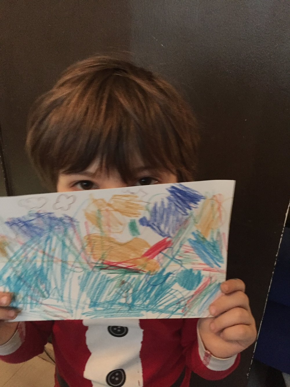 Lyric's finished product. Note him camouflaged within the picture!