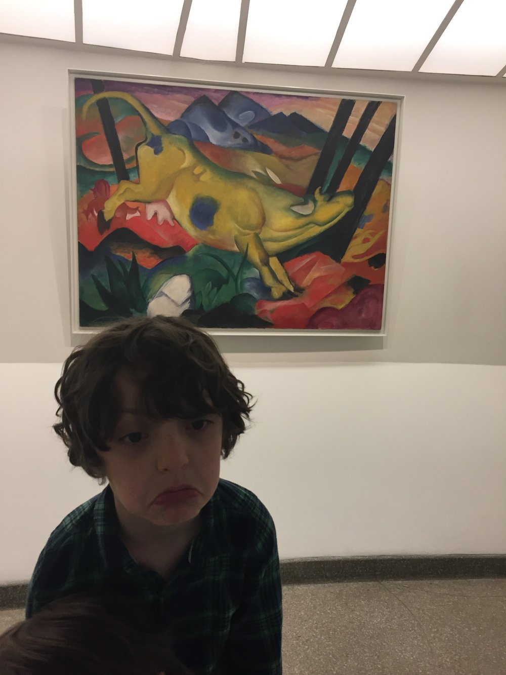 Zephyr found this Franz Marc to be sad. It made me look at it differently.