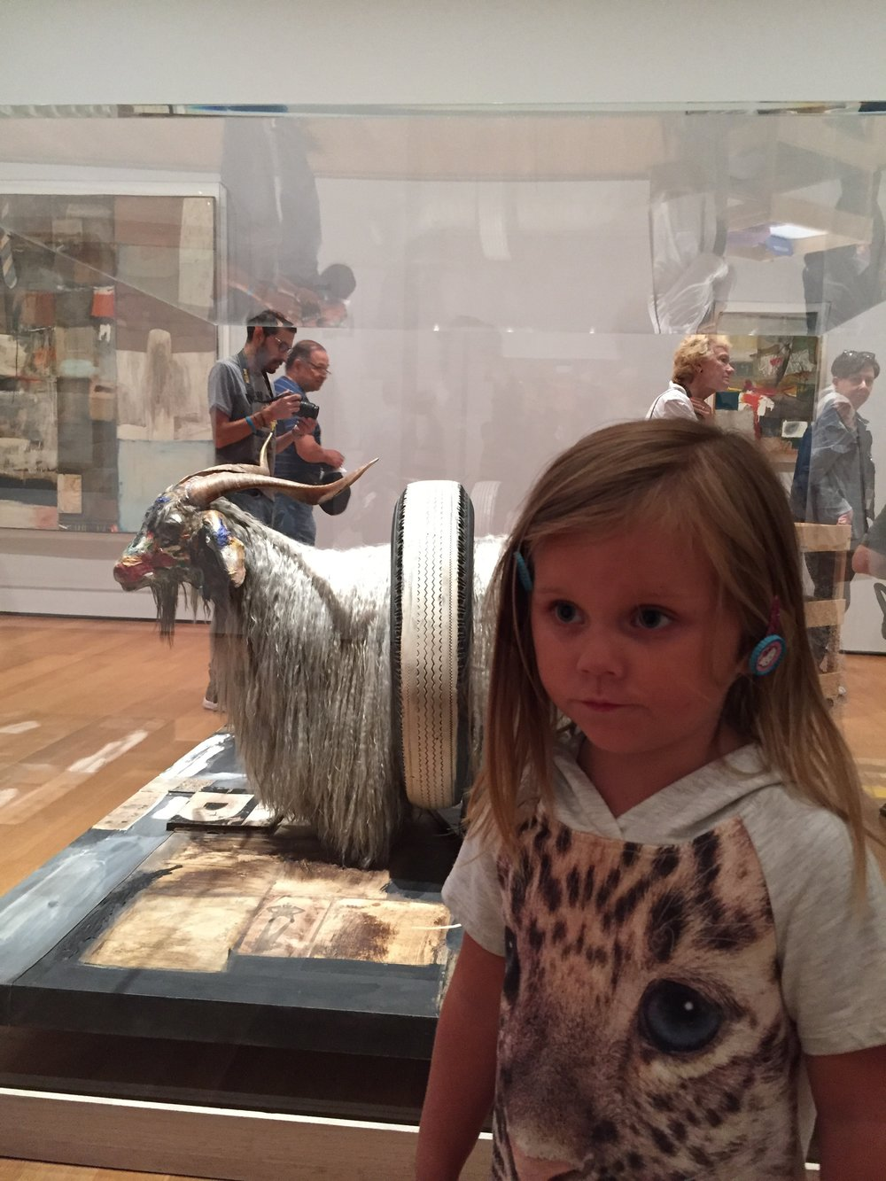 Marilyn was surprised by this taxidermy Angora Goat in Rauschenberg's Monogram.