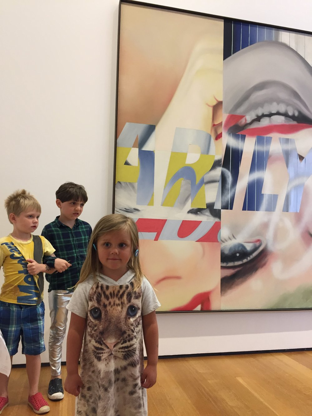 Had to get a picture of Marilyn with Rosenquist's Marilyn.