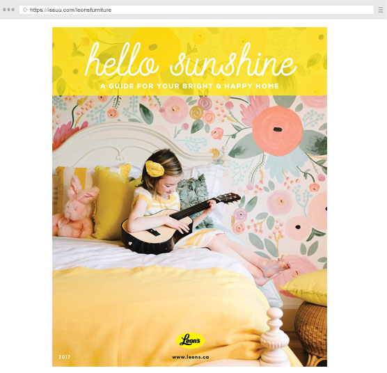 Leon's Hello Sunshine Magazine    Featured in:A Family Makeover and Where Less Really is More Summer 2017
