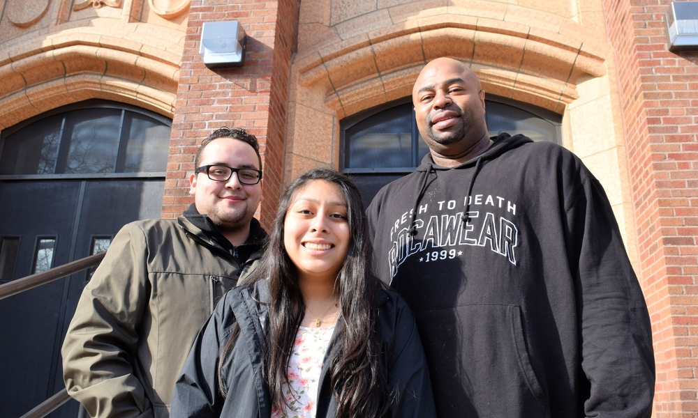 Jose Munoz, Alondra Ramos, and Bobby Grant are running for Local School Council positions at Roosevelt High School on a shared education justice platform.