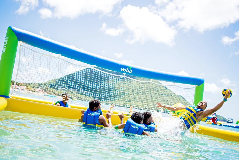 Volleyball Splash Island Water Park St. Lucia