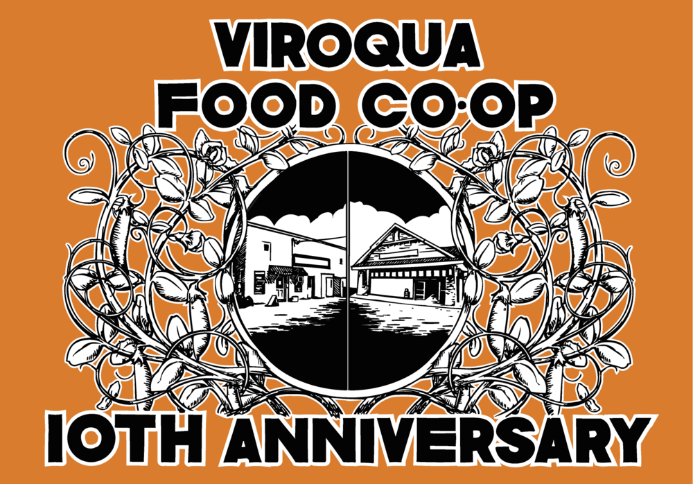 Viroqua Food Co-op 10th Anniversary shirt