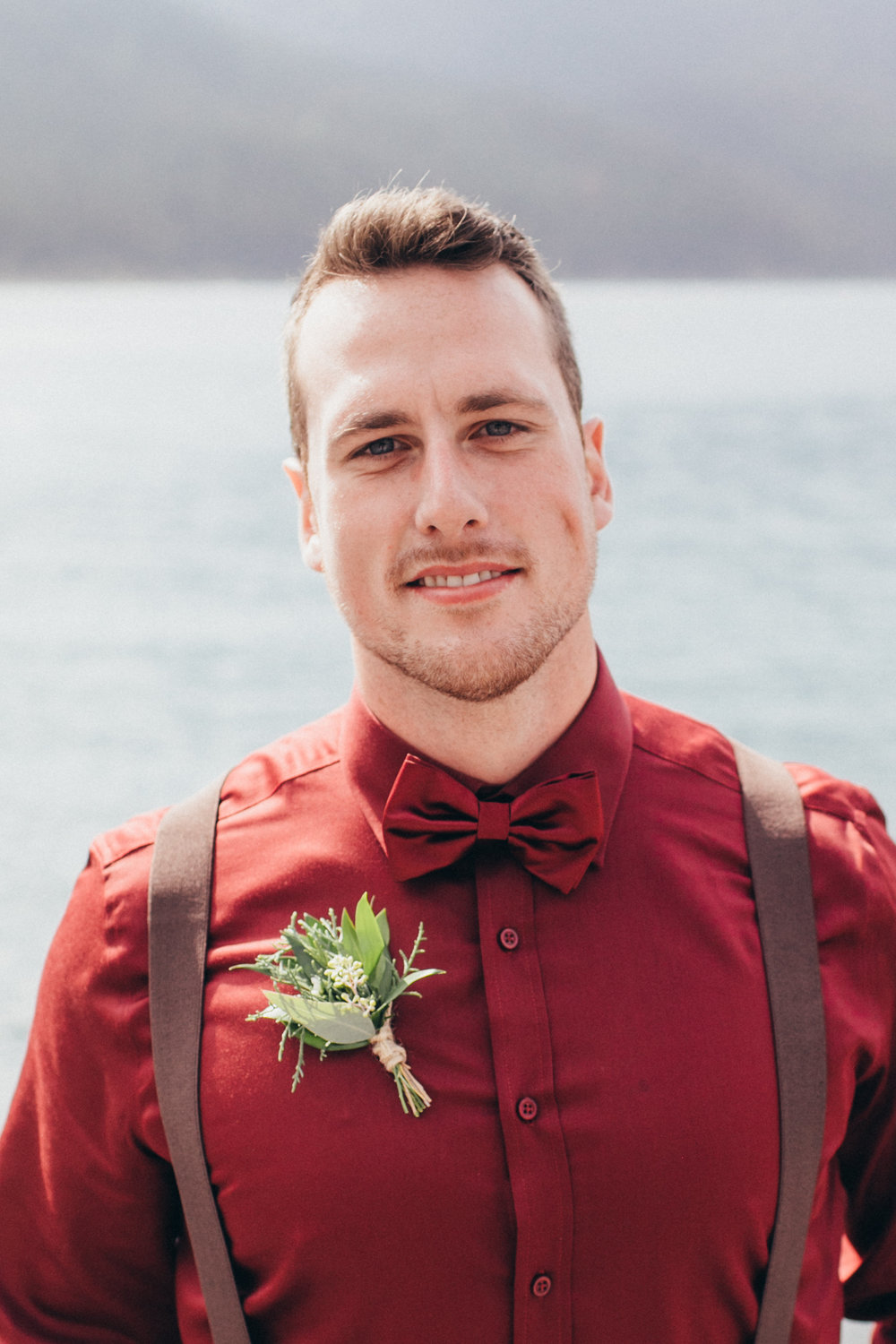 custom boutonniere for banff wedding that is affordable and rustic