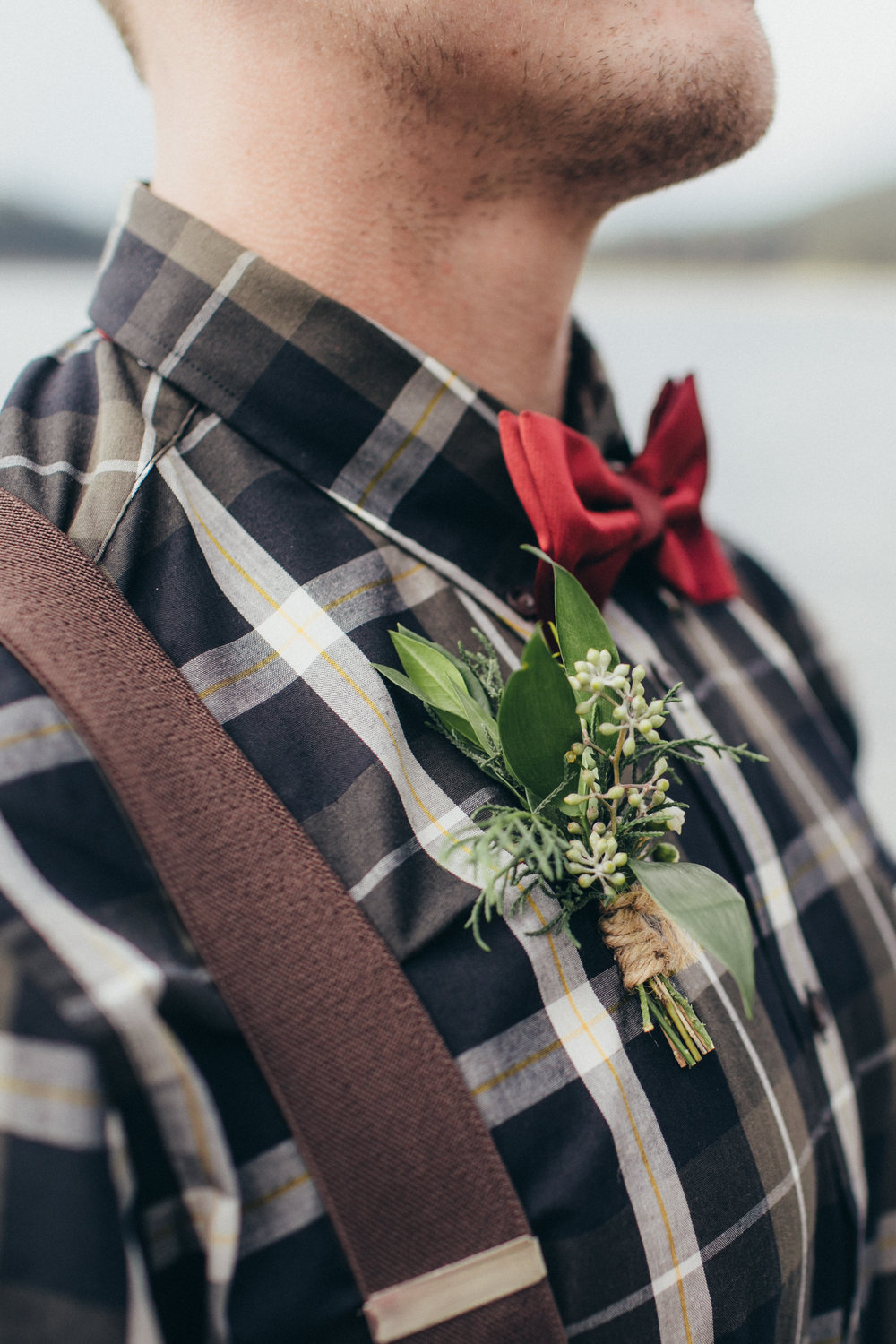 custom boutonniere made in canmore and banff that is affordable