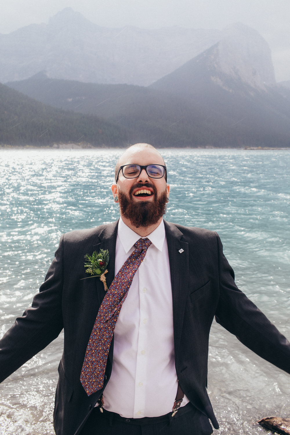 custom boutonniere for canmore banff wedding that are affordabl