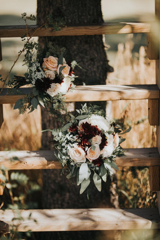 bridal bouquet for rustic wedding in alberta
