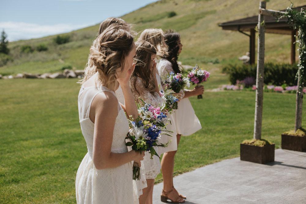 bridesmaid wedding flowers based in cochrane, alberta