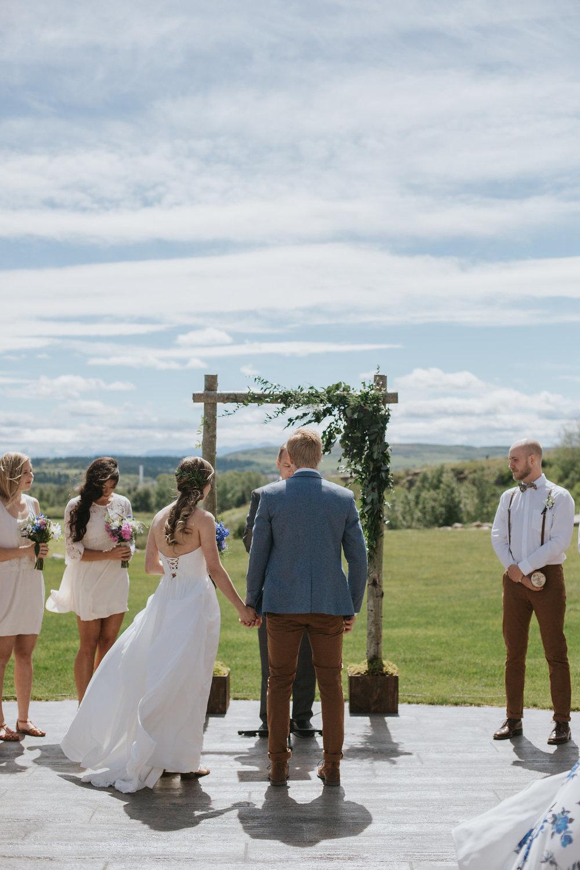 cochrane wedding flowers and wedding arch