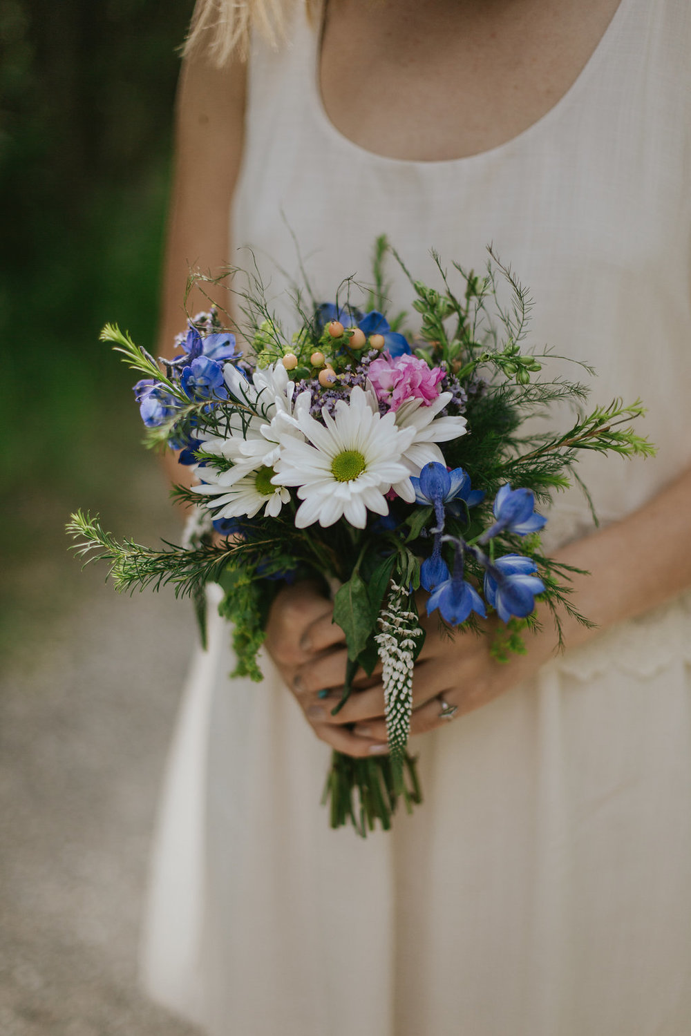 rustic wedding flowers for bridal bouquet