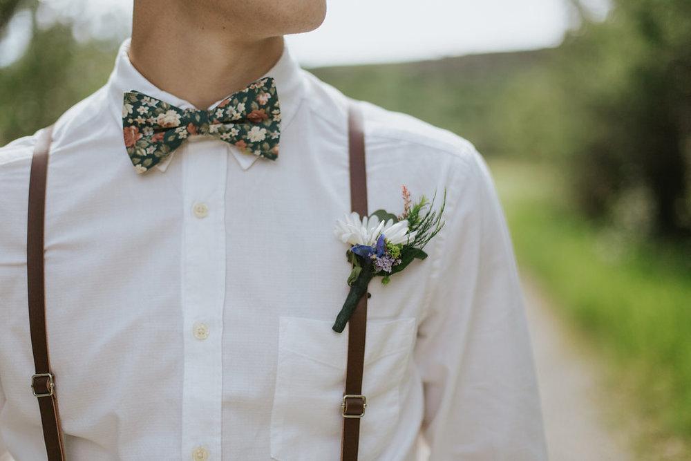 groom wedding flowers boutonniere in calgary, alberta