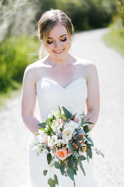 affordable wedding bridal bouquet in cochrane, alberta