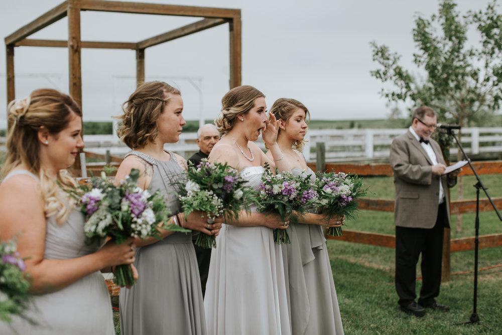 bridesmaid bouquets in calgary, alberta