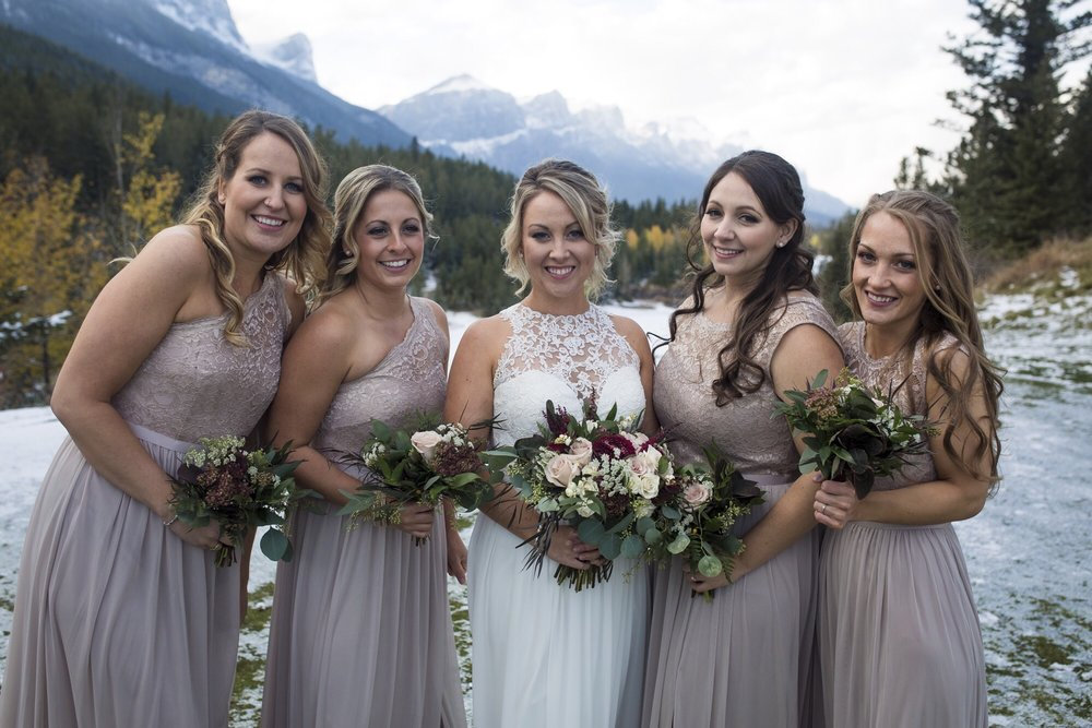 wedding flower bridal and bridesmaid bouquets